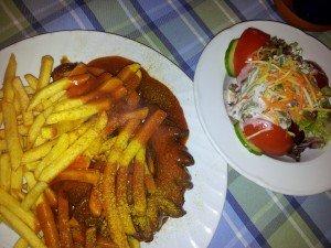 Bayerischer Löwe Currywurst